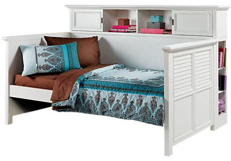 rooms to go twin beds belmar white 4 pc bookcase daybed twin beds white