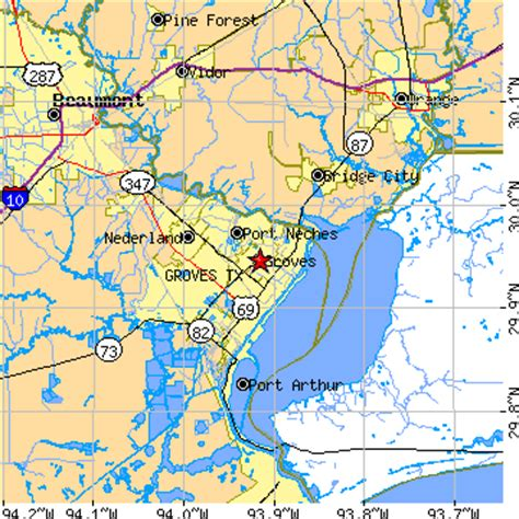 groves texas map groves texas tx population data races housing economy
