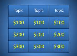 easy jeopardy powerpoint template