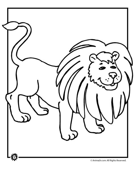 cartoon lion coloring pages free cartoon lion coloring pages