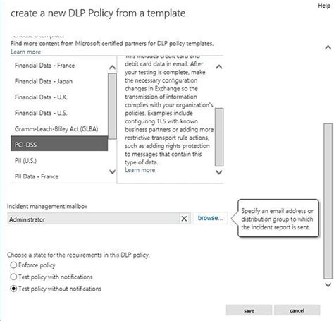 How To Create Exchange 2013 Data Loss Prevention Policies Data Loss Prevention Policy Template