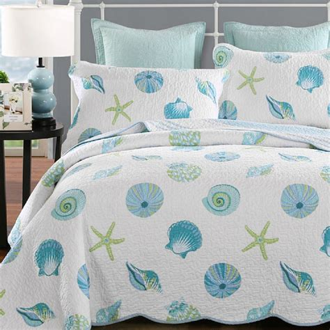 beach themed coverlets online buy wholesale shell bedspreads from china shell