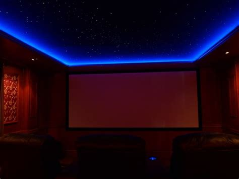 Rope Lighting Ideas by Use Rope Lights Slightly Lowered Molding For Lighting A Friend Has A Projector