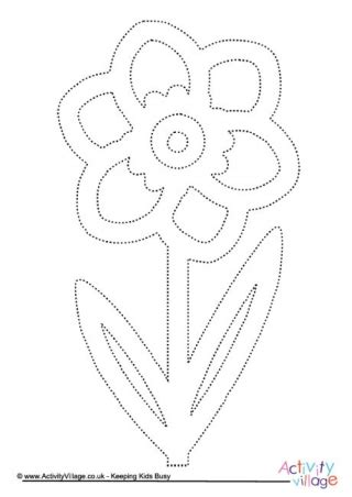 lotus flower tracing page