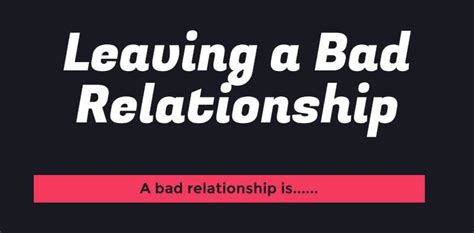 7 Ways To Leave A Bad Relationship by The Lance Dufresne And Cuozzo Give Information About
