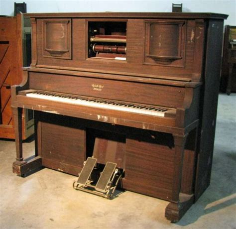 player piano apollophone mahogany player piano w phonograph antique piano shop