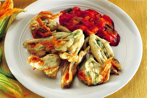 ricetta di fiori di zucca in pastella ricetta tempura di fiori di zucca la cucina italiana
