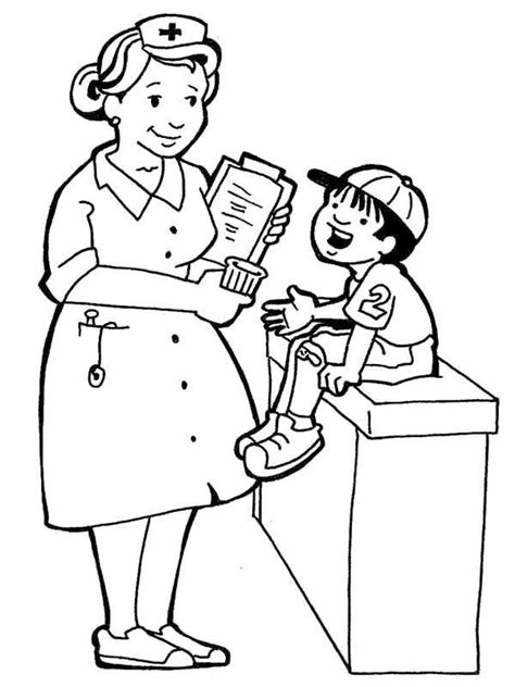 preschool coloring pages community helpers nurse coloring pages community helpers theme preschool