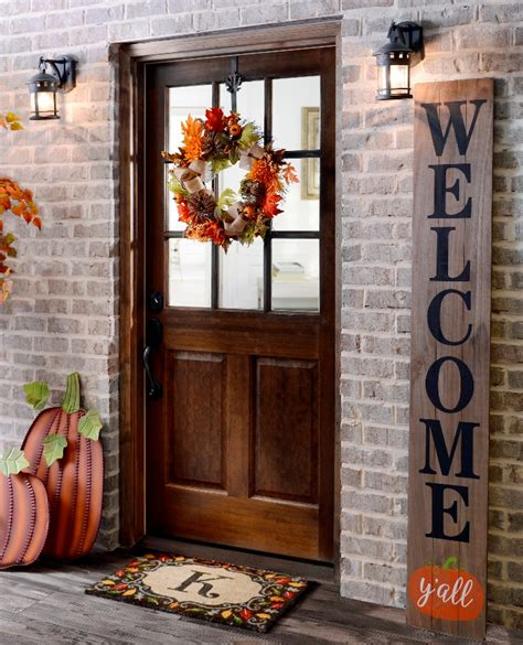 home decor front door welcome guests with fall door decorations my kirklands blog