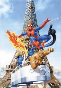 The amazing spider man amp the fantastic four artwork by mike mayhew