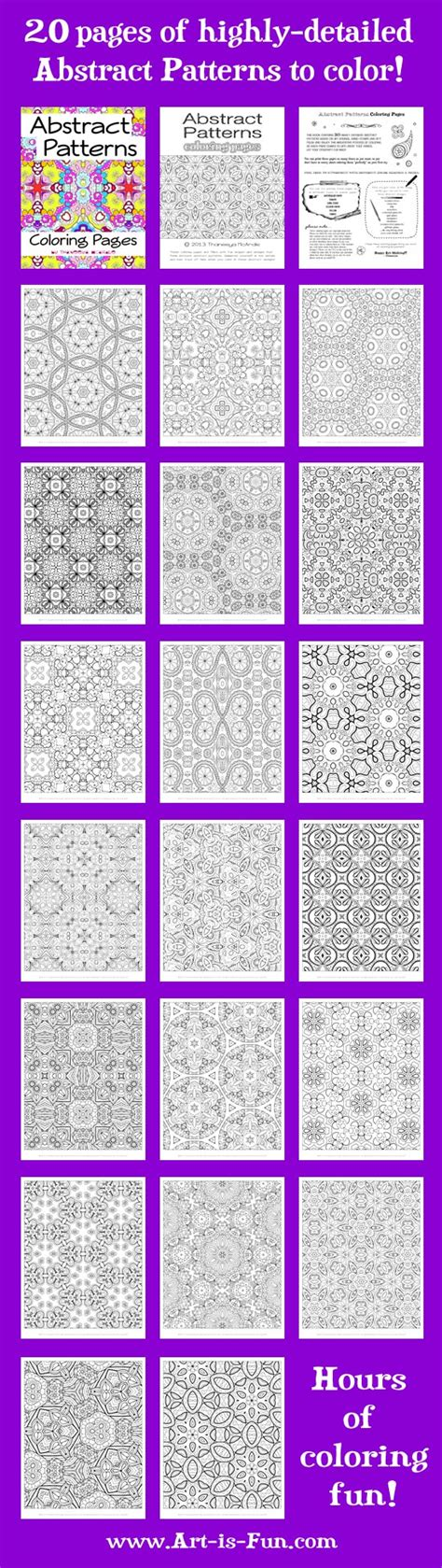 abstract pattern colouring books free abstract pattern coloring page detailed psychedelic
