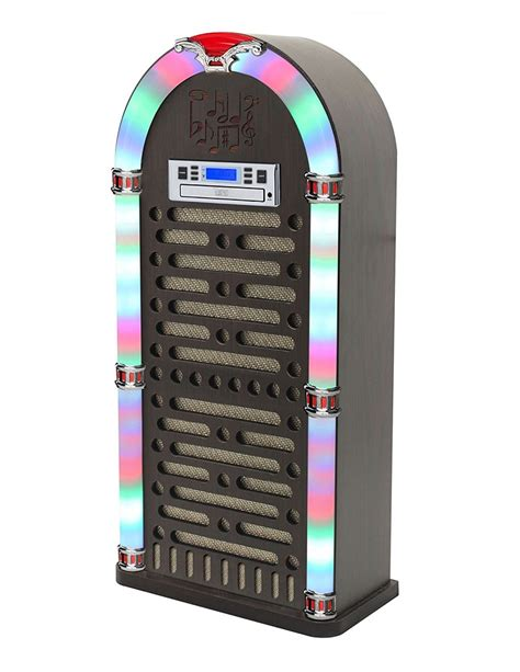 led lights for jukebox itek i60017 bluetooth jukebox built in cd player fm radio