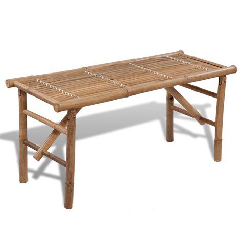 panchina pieghevole articoli per vidaxl panchina pieghevole in legno di bamb 249