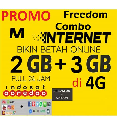 Paket Data Xl Combo 5gb 3gb 30 Hari paket indosat freedom combo m 5 gb 2 gb 3 gb 4g data