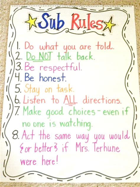 tips for a substitute elementary