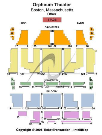 orpheum theatre boston seating chart orpheum theatre tickets in boston massachusetts orpheum