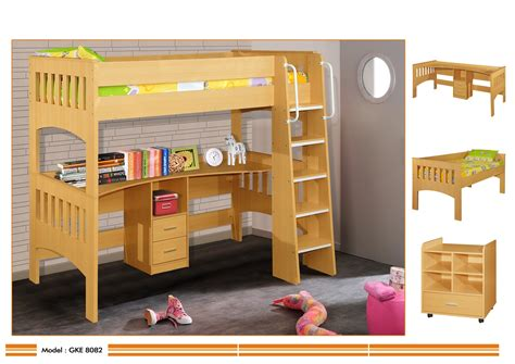 single bunk bed with desk miami single loft bunk