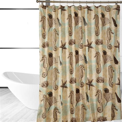 horse shower curtains com sea horse shower curtain home kitchen