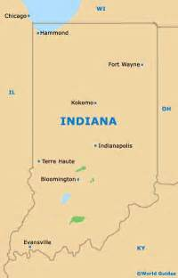 Indiana State Map by Indiana State Tourism And Tourist Information Information