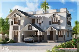 4 bedroom sloping roof house house design plans