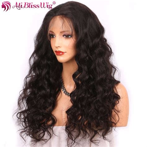 aliexpress wigs 360 aliblisswig body wave 360 lace frontal wigs natural color