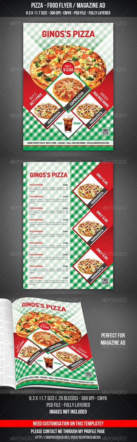 Pizza Food Flyer Magazine Ad Graphicriver Magazine Ad Template