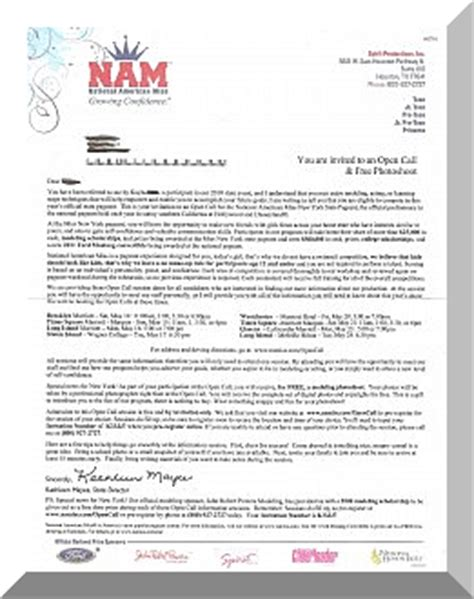 Sponsorship Letter Exles For Pageants Is National American Miss Pageant The Real Deal