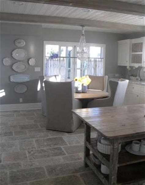 gray walls floor island kitchens