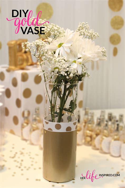 Diy Decorative Vases by Diy Gold Vase Inspired