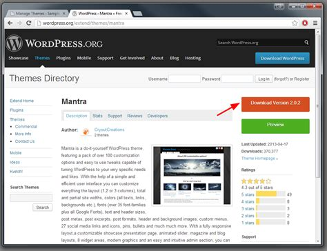 themes wordpress install how to install a wordpress theme cryout creations