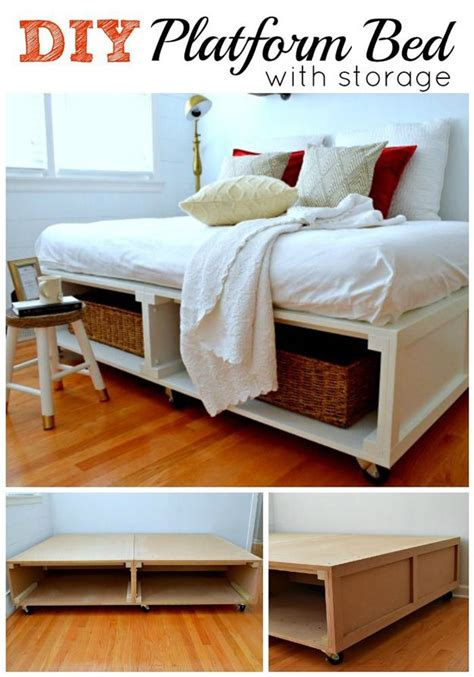 make your own cheap platform bed joy studio design