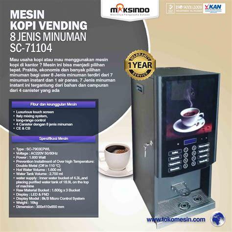 Mesin Mixing Kopi jual mesin kopi vending 8 jenis minuman di surabaya toko
