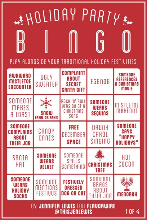 printable christmas table games exclusive holiday party bingo flavorwire