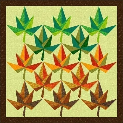 Maple Leaf Quilt Block Pattern by Maple Leaf Paper Pieced Quilt Block Pattern By