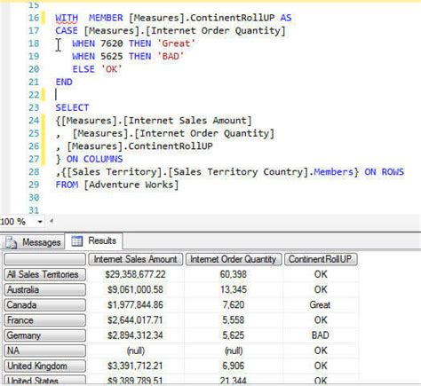 mdx query tutorial in sql server 2008 mdx case statement exles for sql server analysis services