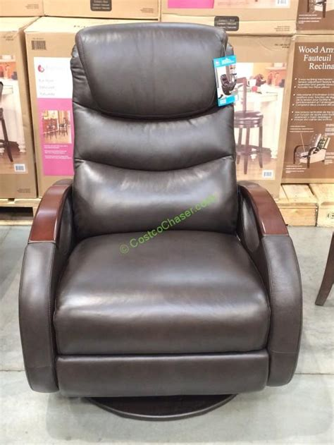 True Innovations Recliner by True Innovations Leather Swivel Glider Recliner Model Cr