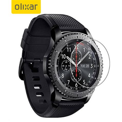 olixar samsung gear  smartwatch tempered glass screen