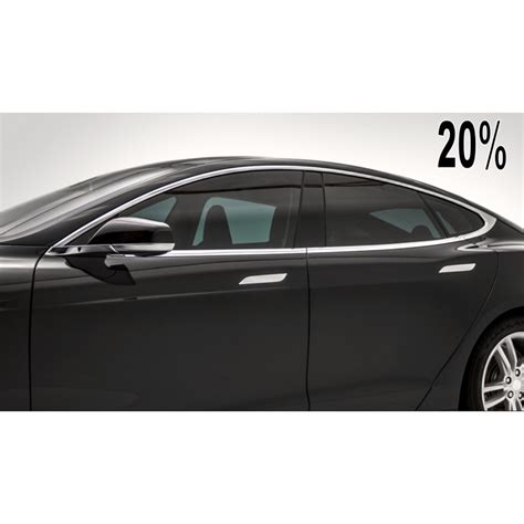 PREMIUM 20% LIMO CHARCOAL DYED POLYESTER CAR WINDOW TINT FILM