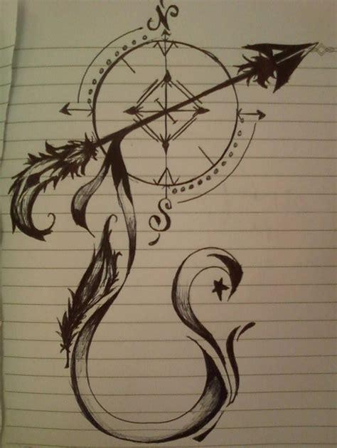 sagittarius arrow tattoo design 25 beste idee 235 n boogschutter tatoeages op