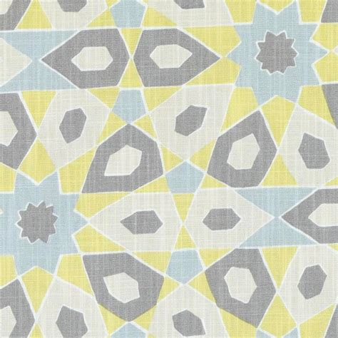 Blue And Yellow Upholstery Fabric by Yellow Blue Grey Geometric Upholstery Fabric Modern Grey