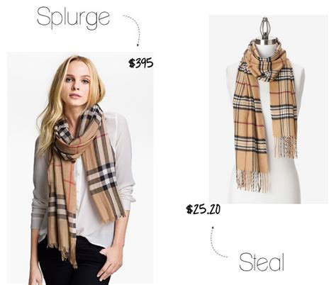 Buy Online Home Decor by Splurge Vs Steal Burberry Check Print Scarf The Budget
