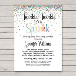 baby sprinkle invitations confetti gender neutral baby