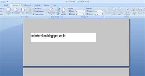 buat halaman microsoft word cara membuat halaman berbeda di ms word sharing ilmu