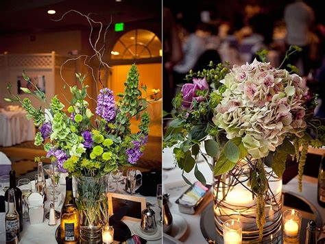 purple and green home decor whimsical wedding reception decor and flowers purple