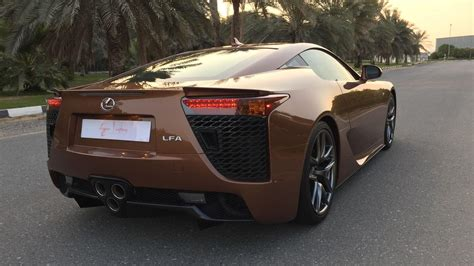 lexus brown one off lexus lfa looks magnificent in pearl brown