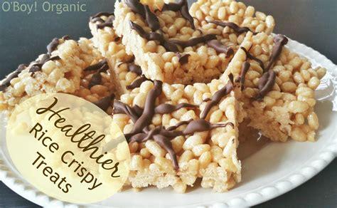 healthy treat recipes healthy rice crispy treat recipe