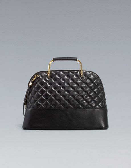 Zara City Metal 26x21x16 zara quilted bag the new quilting design