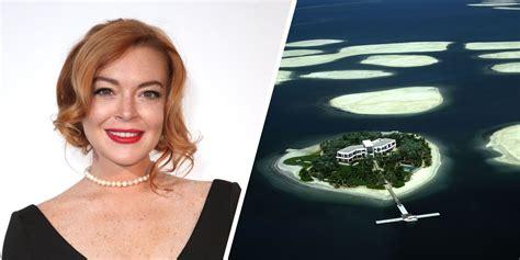 lindsay lohan  planning  build  island  dubai