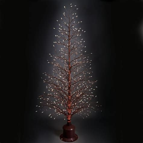 The Color Changing Twinkling Light Tree Hammacher Schlemmer Twinkle Tree Lights