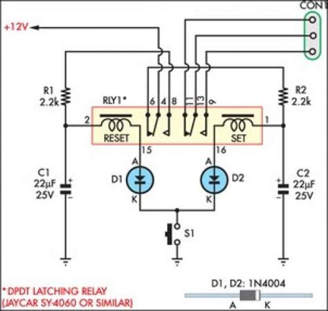 latching relay wiring diagram efcaviation